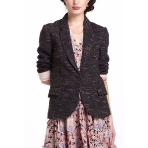 Anthro Cartonnier Black/White Heathered Blazer